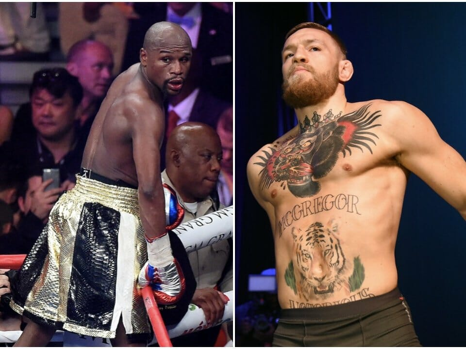 Conor McGregor and  Floyd Mayweather fight in Las Vegas