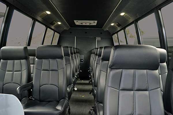 28 passenger shuttle bus interior