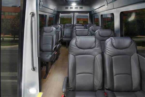 Mercedes Sprinter 14-Passenger Shuttle Interior