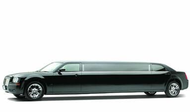 10 Passenger Black Chrysler 300 Limousine-featured